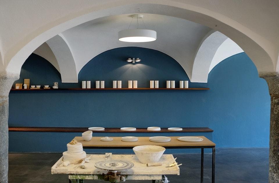 Atelier & Werkstatt im ehemaligen Kuhstall des Weinhuber Hofs in Haag bei Wasserburg