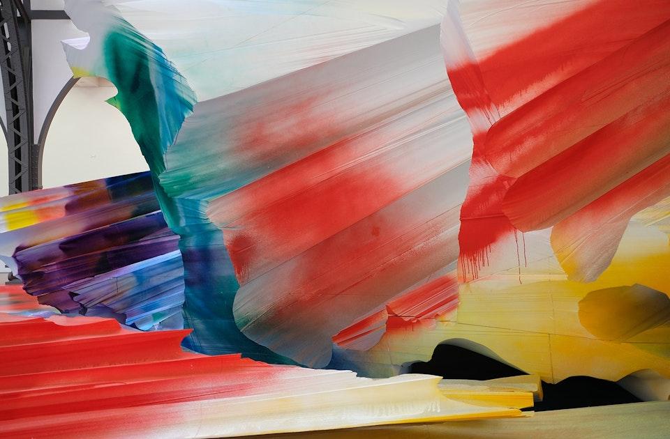 It Wasn't Us, Katharina Grosse, 2020, Hamburger Bahnhof - Museum der Gegenwart, Berlin, Acryl auf Polystyrol, Detailaufnahme