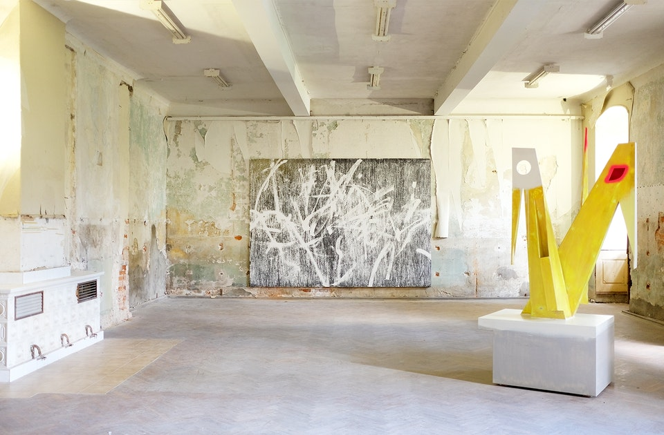 Gregor Hildebrandt »Into the Blue« 2020, Thomas Scheibitz »Zwilling«,  2010