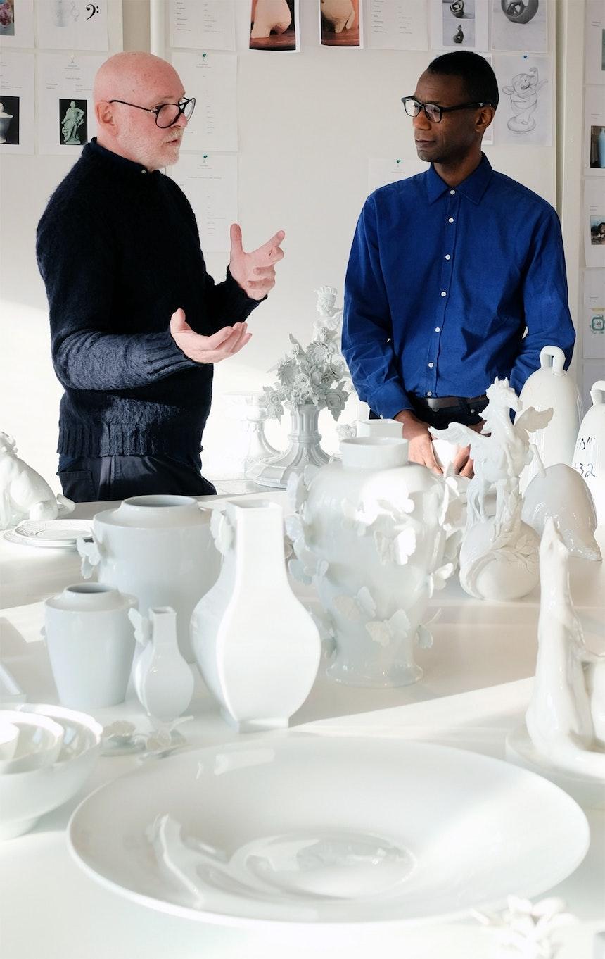 Kreativdirektor Otto Drögsler im Gespräch mit seinen Gästen