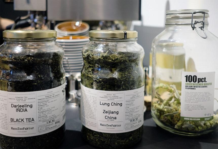 Teesorten von 100 pct. & der ManuTeeFaktur aus Berlin