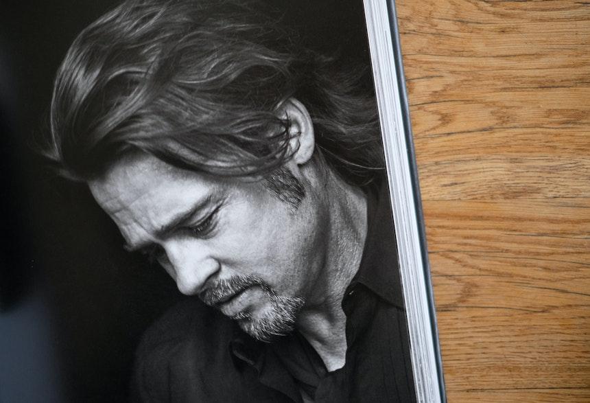 Brad Pitt, London, 2015, Gucci by Tom Ford