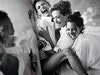 White Shirts, Estelle Lefébure, Karen Alexander, Rachel Williams, Linda Evangelista, Tatjana Patitz & Christy Turlington, Malibu, 1988, Vogue USA