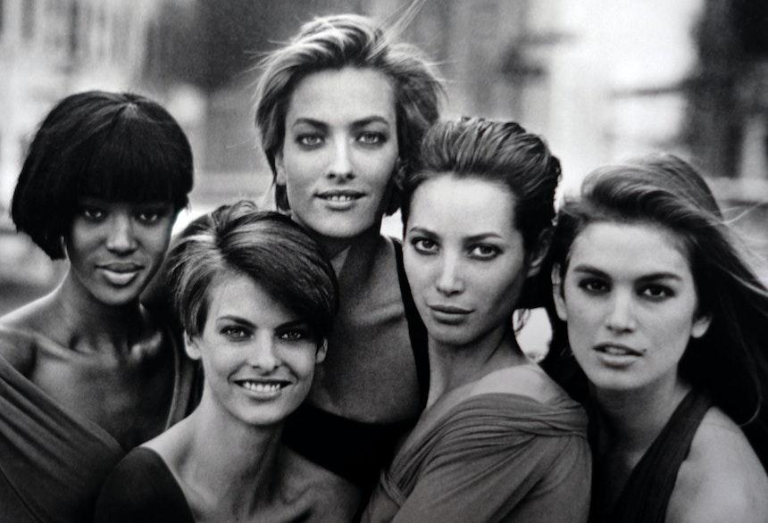 Naomi Campbell, Linda Evangelista, Tatjana Patitz, Christy Turlington & Cindy Crawford, New York, 1989, British Vogue