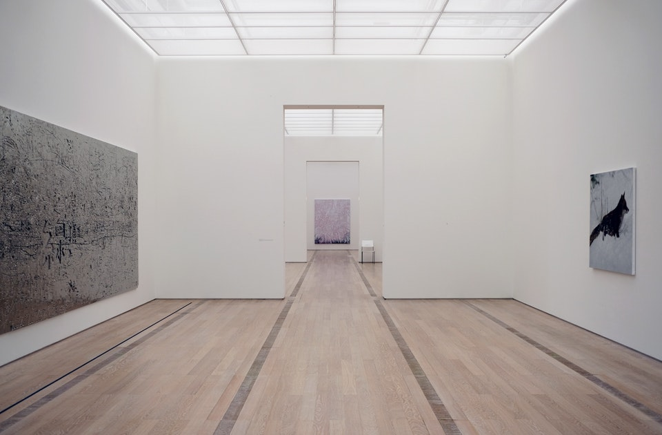 Fondation Beyeler, Sommerausstellung 2019, Rudolf Stingel – Untitled, 2014, mit Aluminium beschichtete Schaumstoffplatte, Untitled, 2019, Untitled 2013, realistisch gemalter Rotfuchs nach Kalenderblattvorlage