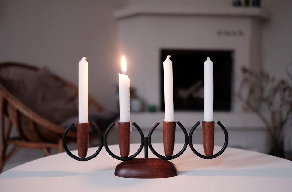 1. Advent  – Vintage Kerzenleuchter von Frida Watson