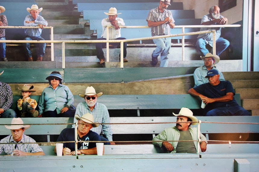 Bildausschnitt: Sharon Lockhart,Visalia Livestock Market, Visalia, California, 2011, »presently«, Tobias Rehberger@ neugerriemschneider