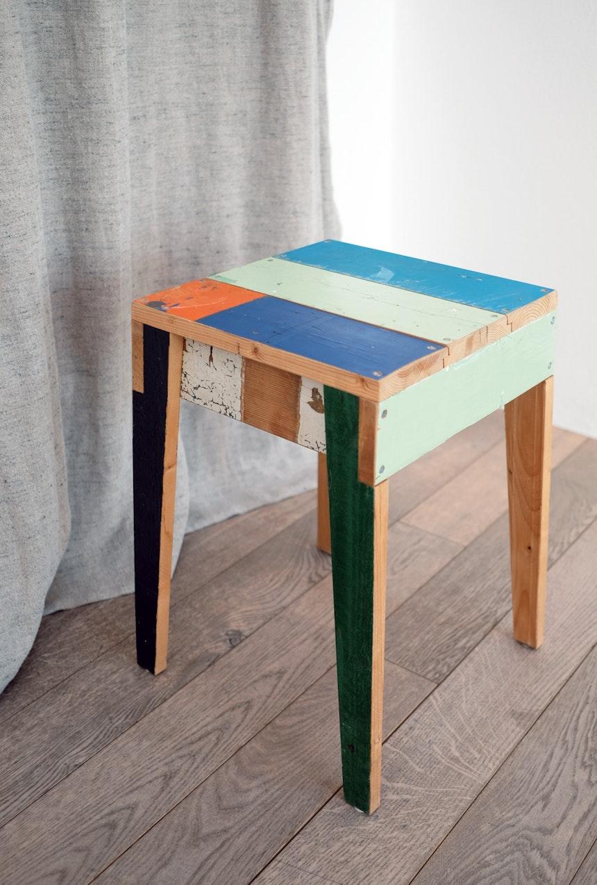 Hocker »Scrapwood«, Design Piet Hein Eek