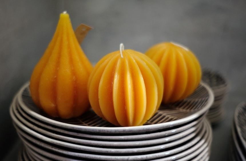 Herbst-Kerzen & Keramikgeschirr