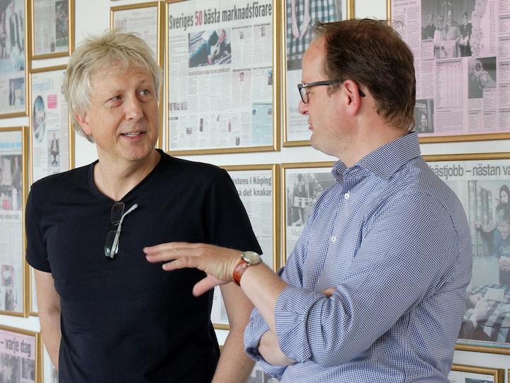 Firmenchef Jan Ryde und Ralph Röhr (Vertriebsleiter Deutschland)