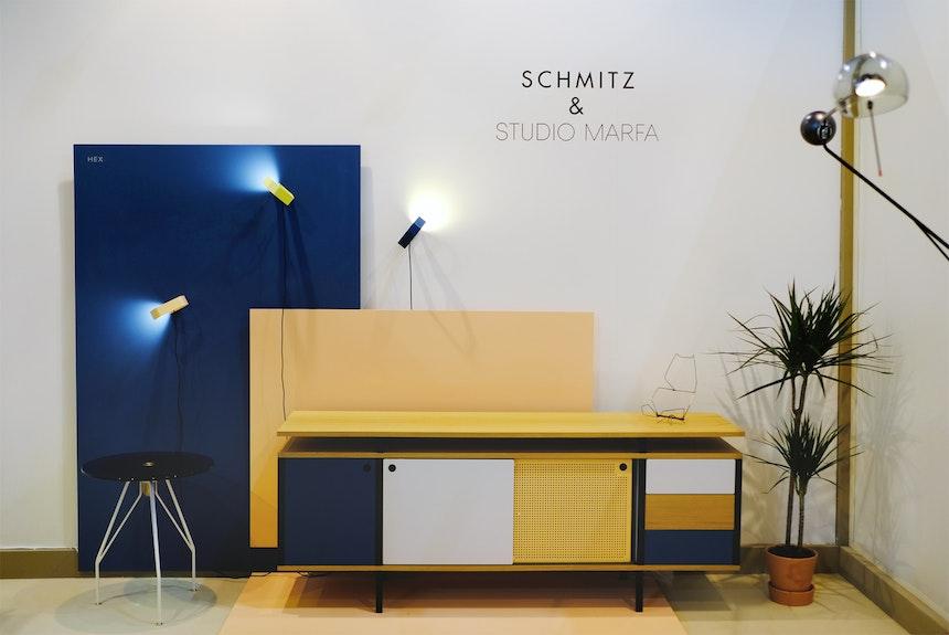 Messestand Schmitz & Studio Marfa, Salone Satellite, Mailand