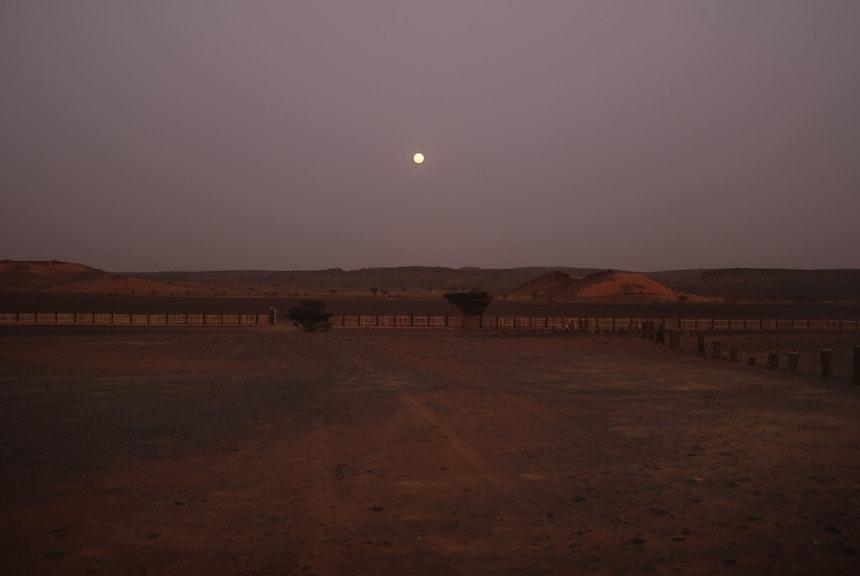 Blick aus dem Zelt – Vollmond über dem Land der »schwarzen Pharaonen«