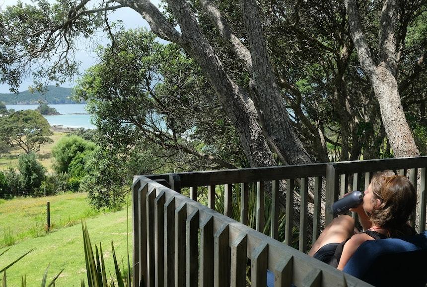 Cabin mit Aussicht auf dem Grundstück der Großgrundbesitzer (inklusive Strand)
