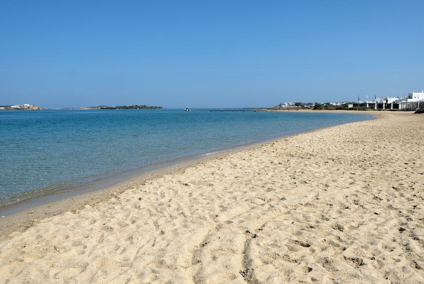 Kite-Strand ohne Wind...