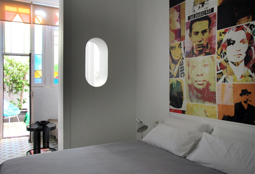 Unser Double Vintage Zimmer mit Patio – so schön.