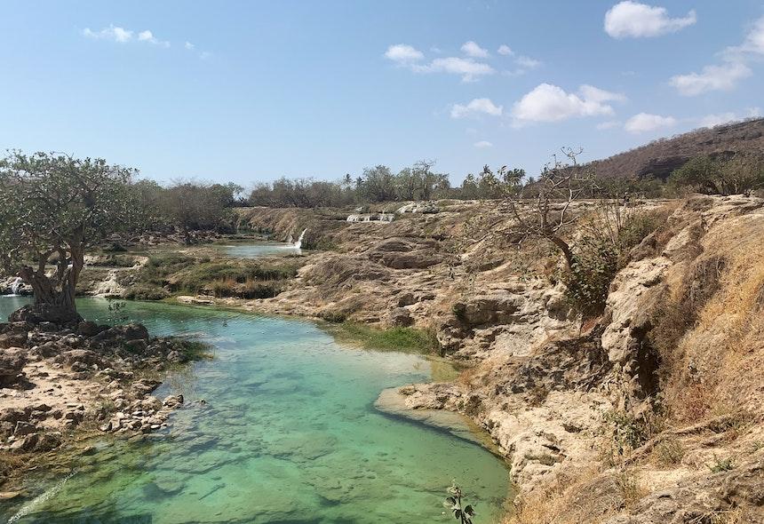 Verlockend auch der Wadi Darbat nördlich von Taqua, der zur Monsunzeit zwischen Mai und September üppig ergrünt