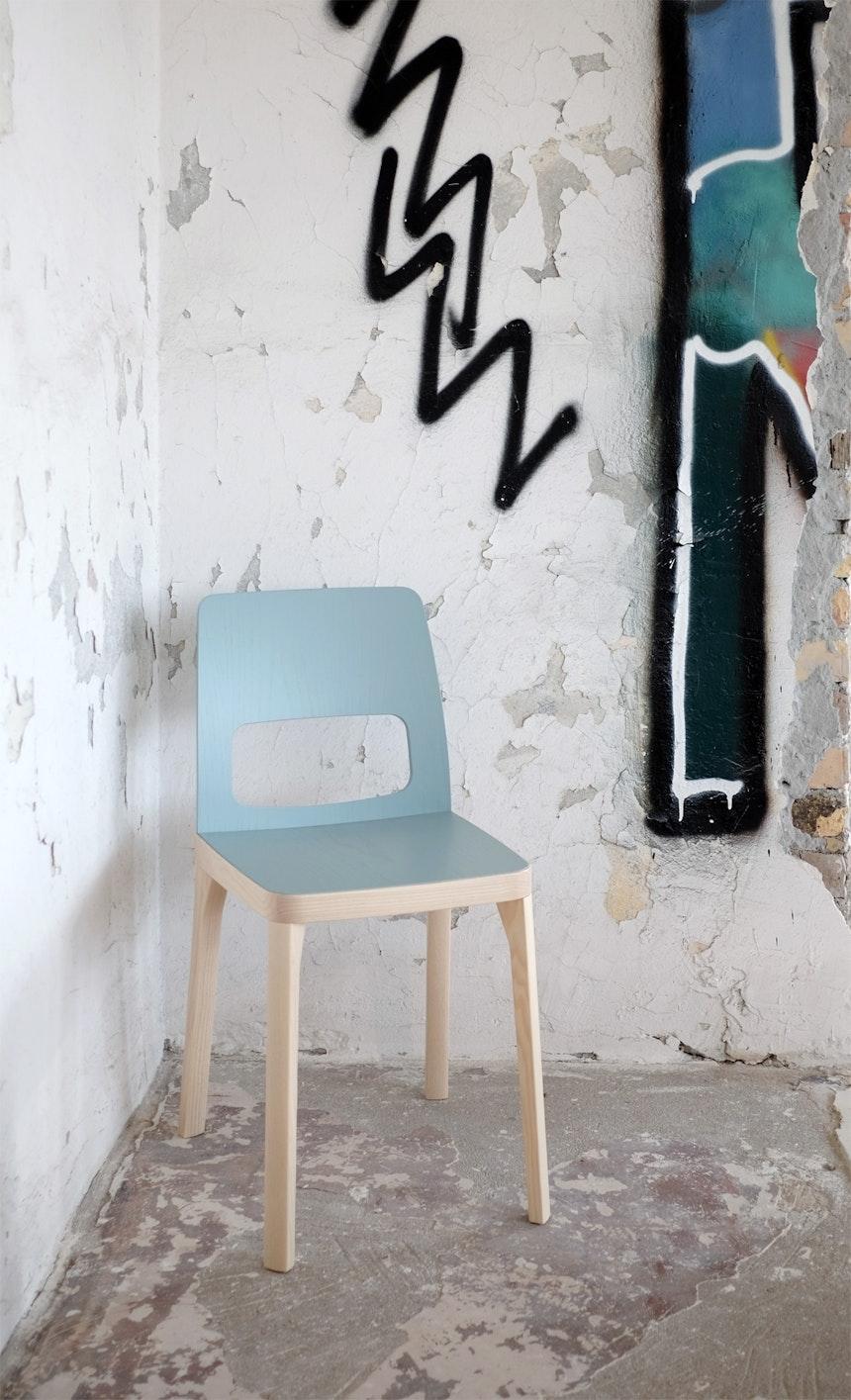 ST6N Stuhl, Design Arge 2 für Hussl