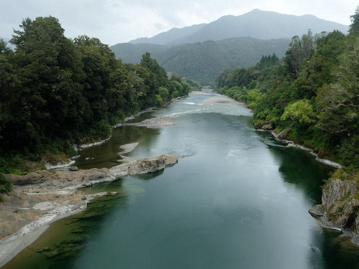 Suedinsel Neuseeland Fluss