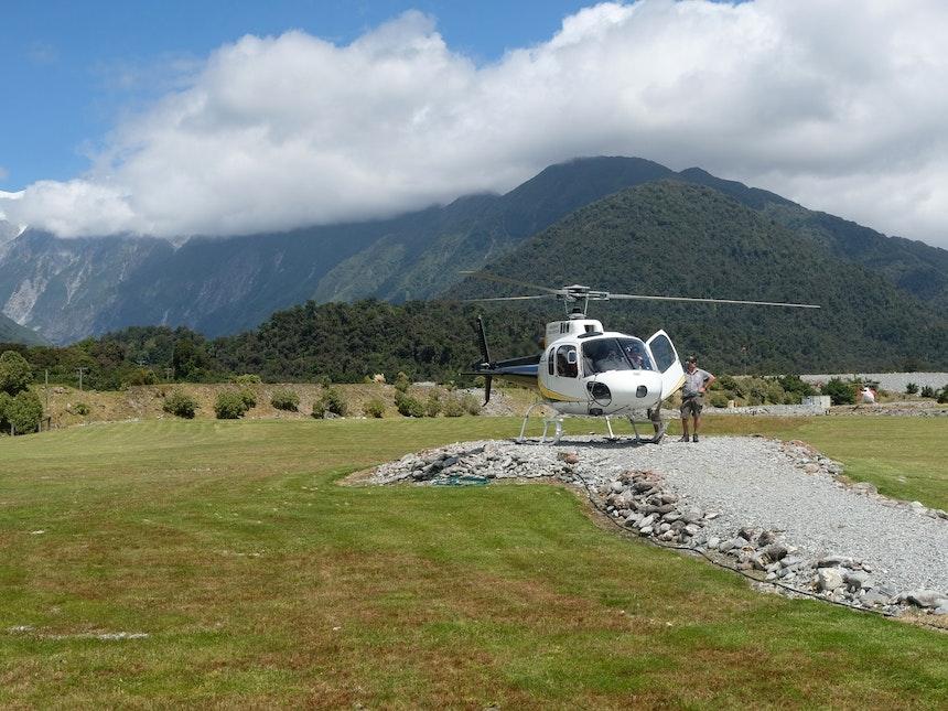Suedinsel Neuseeland Franz Josef Glacier Helikopter