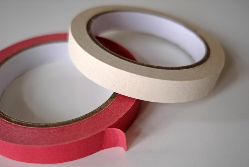 Masking Tape in Rot & Weiß
