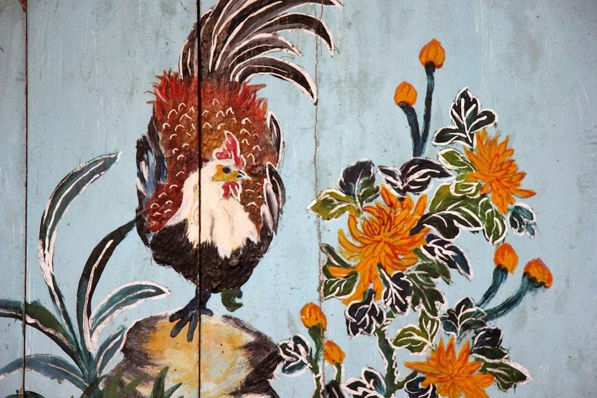 ... und als Malerei im Juan Công Miéu Tempel