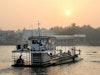 Seitenarm des Mekong – Bassac River bei Sonnenaufgang