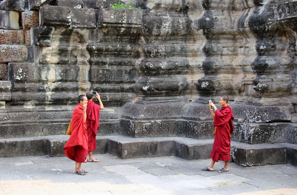 Mönche im Angkor Wat