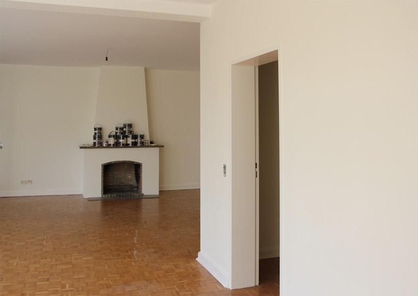 F&B's Pointing, Wohnbereich, kleinteiliges Mosaikparkett