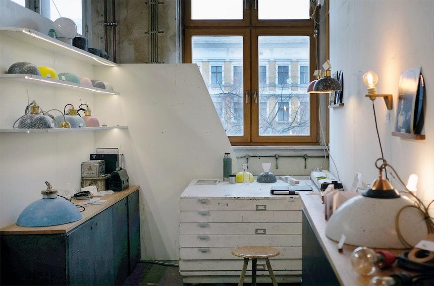 Früher Werkstatt, heute Showroom. VLO Design in der Schlesischen Straße